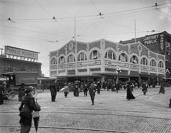 Corner Market at Pike Place - Vintage